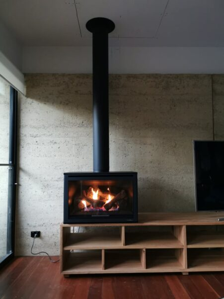 gas log heater installation